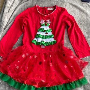 ‼️Girls 5T Rare Too Christmas Boutique dress‼️